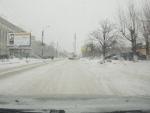 Снегопад в Дзержинске.